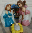 General Foam Plastics 3 Piece Nativity Set Blow Mold 28 Tall