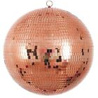 20 Extra Wide Rose Gold Glass Mirror Disco Ball Ornaments Party Decorations