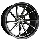 4 20 Staggered Stance Wheels SF01 Gloss Black Tinted Face Rims B4