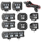 LED Light Bar Flush Mount Cube Pods 3 4 5 7 12 18 30 Inch Side Shooter 5D