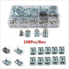 100Pcs Car Motorcycle Fairing Bodywork U Clips U Nut Speed Fasteners M4 M5 M6 M8