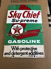 Texaco Sky Chief Su-Preme Porcelain Metal Gas Pump Sign Gas Pump Sign