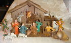 Vintage Italian Nativity Set Christmas Manger Scene 17 Figures Made In Italy