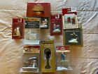 Christmas Village Accessory Collectibles People Animals Street Light Lot of 10