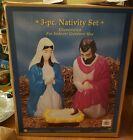 3 piece nativity set Illuminated for indoor outdoor use