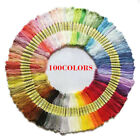 100Pcs Cross Stitch Cotton Embroidery Thread Yarn Floss Sewing Craft Polyester