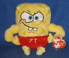 TY MUSCLEBOB BUFFPANTS BEANIE BABY (SPONGEBOB) - MINT with NEAR PERFECT TAG