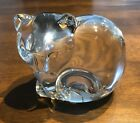 Tiffany  Co Large Glass Cat Paperweight