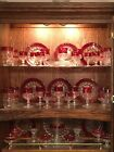 Vintage Kings Crown Ruby Red Glassware 8 5 piece dinner set 43 pieces total
