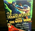 SIDESHOW MONSTERS FRANKENSTEIN MEETS THE WOLF MAN 12 FIGURE NEW SEALED HORROR