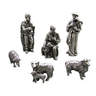 DANFORTH Shepherd  Sheep Pewter Nativity Set Handcrafted Gift Boxed in