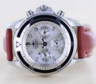 Sector No Limits SGE 600 edler Sport Chronograph Silver Brown Day Date 38mm