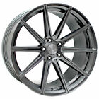 4 20 Staggered Stance Wheels SF09 Brushed Dual Gunmetal RimsB31