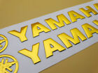 20cm 3D Rubber Gold Fuel Tank Fairing Emblem Decal Stickers for Yamaha