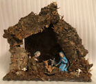 Vintage Yuletide Mid Century Wooden And Polymer Christmas Nativity Set  Italy