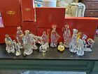 Gorham Crystal and Gold Nativity Set 13 pieces