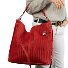 Vittoria Pacini Italian red woven calf leather tote shoulder bag NEWLY ARRIVED