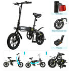 Outdoor Folding Electric Bike Collapsible Moped Bicycle Bike With LED Headlight