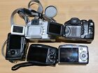 Lot 5x Canon Powershot SX100IS,110IS, S3IS ,S1IS Digital Cameras - Read #12