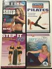 LOT of 4 Exercise DVDs Jillian Michaels Tami Lee Pilates Step Free Shipping