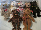 Lot of 8~TY Beanie Baby Signature Collection Bears 8