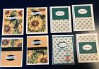 8 HANDMADE GREETING CARDS Thank You Sunflowers Teal Stampin Up