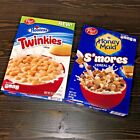 NEW Post Hostess Twinkies Honey Maid S'mores Smores Cereal 12 & 12.25 OZ Boxes
