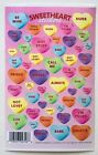 1 SHEET VALENTINES DAY CONVERSATION HEARTS CREATIVE IMAGINATIONS STICKERS LOVE
