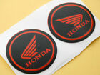 Fairing Sticker Decal Emblems for Honda Wing 55mm 3D Red Rubber Racing
