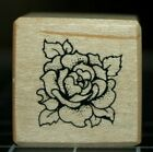 Detailed MINIATURE ROSE Small Wood Rubber Stamp PSX A080 Vintage 1992 EUC