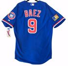 Authentic! Majestic 44 LARGE, CHICAGO CUBS TBTC, JAVIER BAEZ, ON FIELD JERSEY
