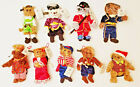 9 Teddies Around The World Plush Christmas Bears Ornament Christopher Radko 2002
