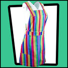 RUN  FLY Striped Rainbow Colours Pinafore DRESS
