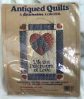 Dimensions Patchwork Of Love Antiqued Stitchables Quilt Kit 7826 New 1989