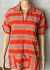 Vintage SOUTHERN TRIBAL Tunic Top Native American Music Festival Boho Women H