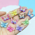 10Pcs Set Colorful Resin Butterfly Charms Pendant DIY Making Necklace Jewelry
