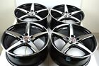 4 New DDR ST1 17x75 5x1143 38mm Black Machined Face 17 Wheels Rims