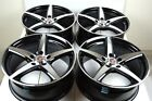 4 New DDR ST1 17x75 5x100 38mm Black Polished 17 Rims Wheels
