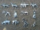 ZOO ANIMAL and MORE PEWTER CHARMS 12 ZIPPER PULLS OR PENDANTS ALL NEW