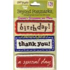 K  Company BEYOND POSTMARKS Lifes Journey RECTANGLE WORDS FABRIC TAGS Birthday