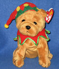 TY ELFIS the DOG  BEANIE BABY - MINT with MINT TAGS - LEARNING EXPRESS EXCLUSIVE