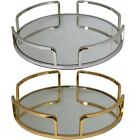 4 Part Serving Dressing Table Candle Tray With Mirrored Glass Base