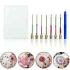 US DIY Embroidery Pen Knitting Sewing Crafts Tools Threader Punch Needles Set