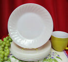Lot 6 Vtg Fire King Milk Glass Ivory White Swirl 9