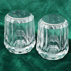 Acrylic and Chrome Salt and Pepper Shaker Retro Taiwan Clear Small