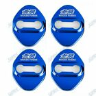 4pcs For Mugen Glossy Color Car Door Lock Protective Cover Badge Decal Sticker