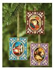 Religious Gifts Set of 3 Christmas Ornaments Nativity of Christ Holy Family Desk