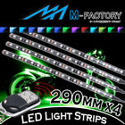 RGB Light Strips Motorcycle Fairing Body Frame 290mm 4Pcs Fit Ducati Motorcycles