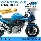 CNC Engine Bolts Kit M6 Race Spec Fit Suzuki SV650S 2003-2017 16 15 14 13 12 11