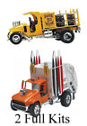 BEER WAGON and Pimped out Garbage Truck Model kits 2 Full kits Brand new